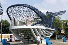 安平「大魚的祝福」廣場封閉改造 遊客把握228連假合影