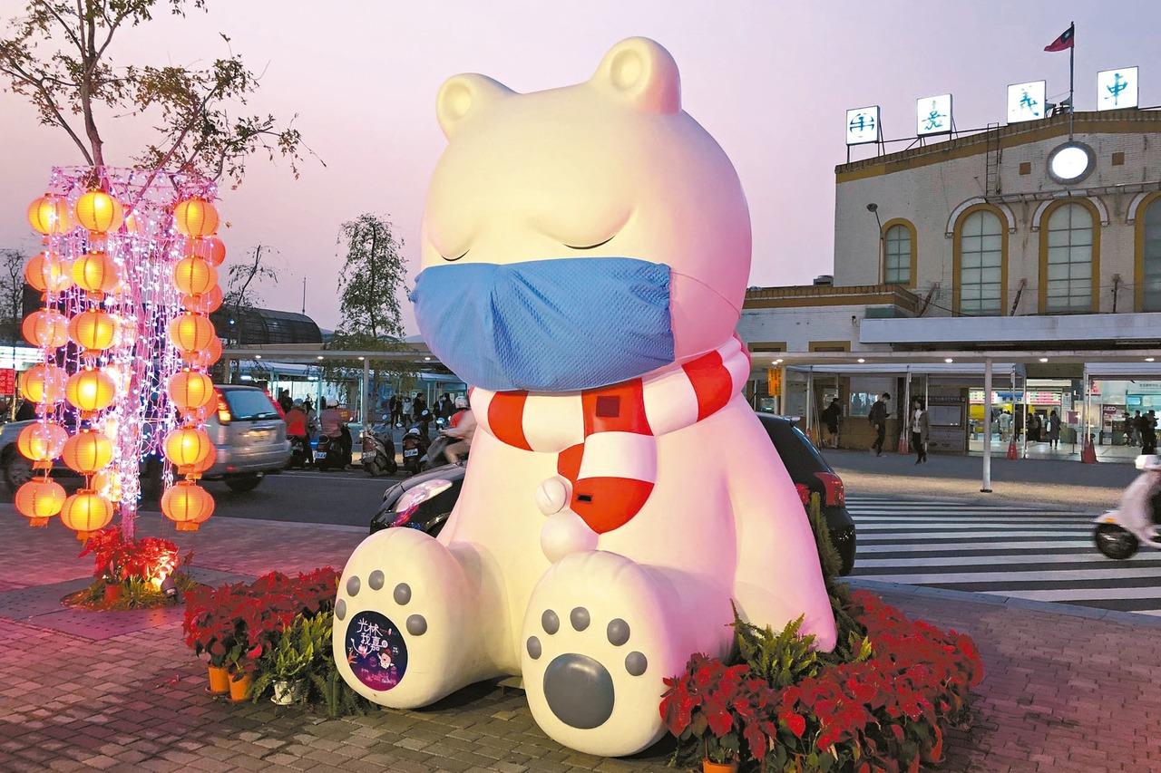 戴口罩大白熊 躍日本雅虎首頁