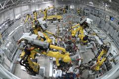 大陸2月官方製造業PMI大跌至35.7 創歷史新低