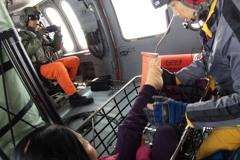 女登山客登喀西帕南山左腳踝骨折 空勤黑鷹今救援送醫