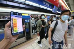 台北捷運 車廂擁擠度即時告知功能