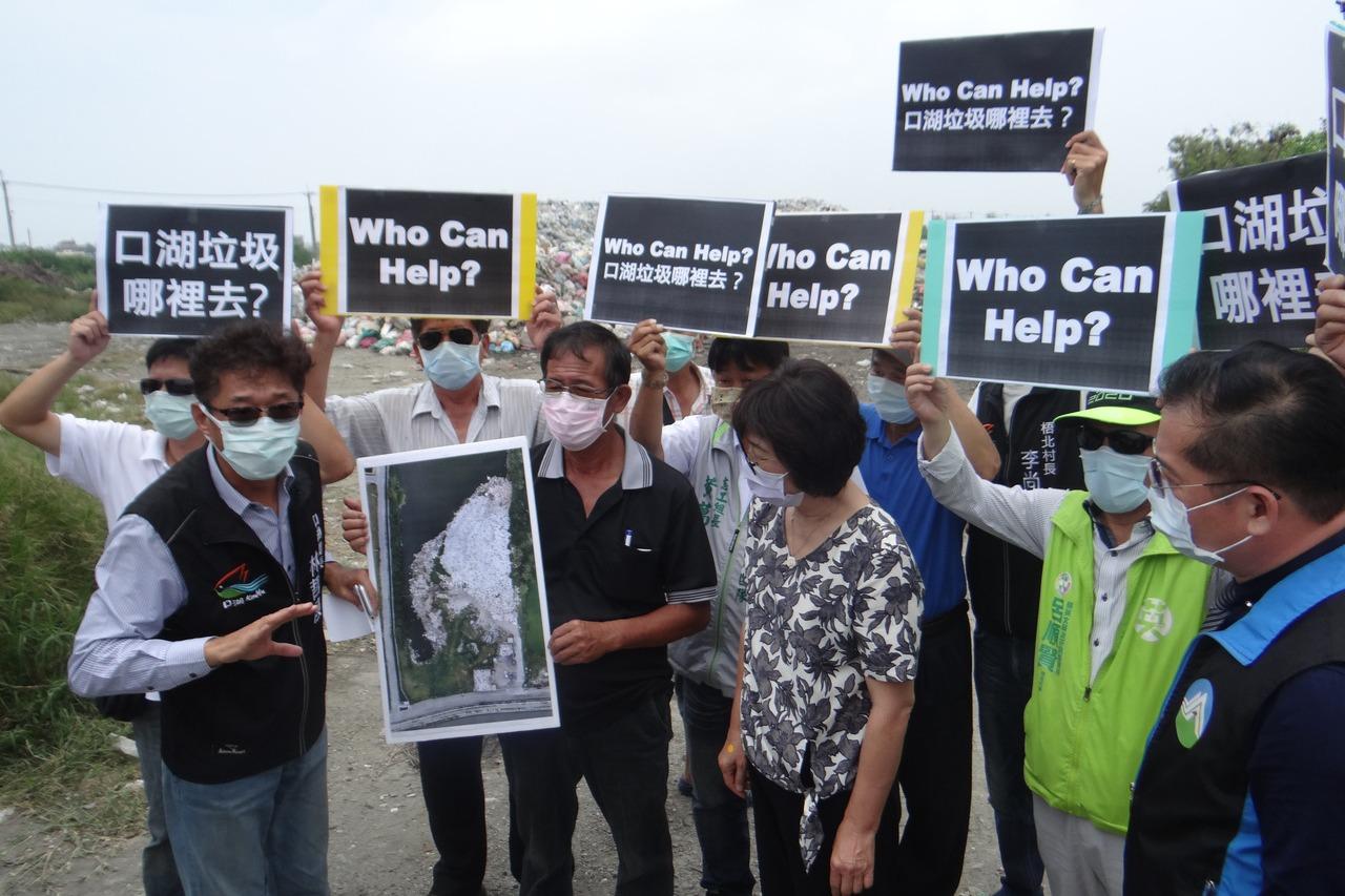 垃圾爆滿為患鄉長直播求援 環保署官員親往雲林救火