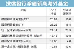 海外基金16強 淨值創高