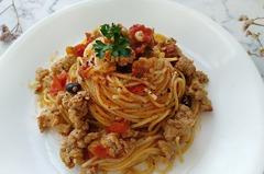 【食譜】香辣番茄肉醬義大利麵。一鍋到底義大利麵