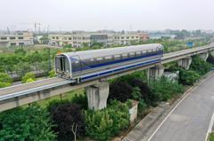 大陸600公里高速磁浮試驗車 上海成功試行