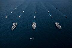 三年來首次!美三艘航艦部署南海入口 劍指陸