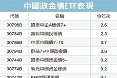 中國政金債ETF 分批布局