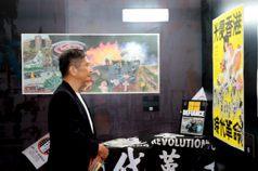 參觀反送中圖像展挺香港 李永得:民主自由會戰勝邪惡