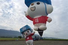 全聯「福利熊」飛上天!行動超市車開進台東熱氣球節