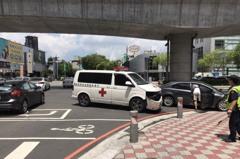 中市自小客車與救護車擦撞 91歲病患至醫院前死亡