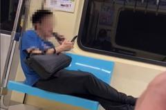 扯!男捷運車廂內佔用2座位 竟當自己家「當眾剃鬍」