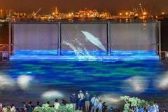 台中最新打卡點 三井OUTLET「3D水幕光影秀」免費入場