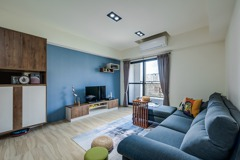 越簡單越幸福 藍調木質北歐宅