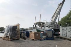 安平港造船廠工安意外 廠商不慎遭引擎砸頭傷重不治