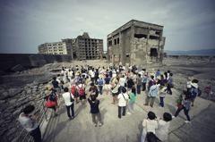 海神颱風襲日本 軍艦島最古老鋼筋建物「30號樓」受損
