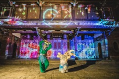 新北人免費看!跟著板橋林家花園「夜間光雕秀2.0」浪漫一下