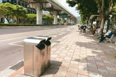 北市人行道放垃圾桶 逾7成認同