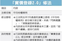 蘇揆:推動實價登錄2.0修法