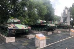 金門M41A3戰車翻覆 軍人忠靈祠園區有輛同型除役老戰車