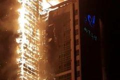 駭人畫面!33層燒成大火柱 南韓蔚山大樓深夜起火 88人送醫