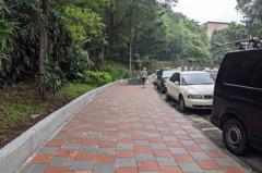 汐止水蓮山莊人行道整修 整體更新變平坦
