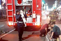 義消下班聞煙味直覺火警 趕上火場救爸爸與二幼童逃生