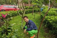汐止厚德公園綠美化 自動灑水系統成小幫手