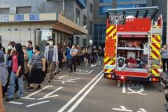 影/竹市科技園區大樓火燒車 近500員工緊急疏散