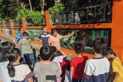 汐止厚德里彩繪牆走濕地風 學童參觀學習
