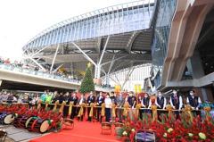 台中水湳「中央公園」開幕 3任市長同框共賀