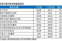 下半年海外股票基金績效 這兩類並列黑馬