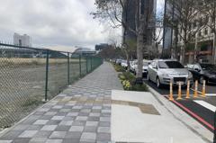 竹縣府改善高鐵周邊2路段 人行道路寬變2倍更好走