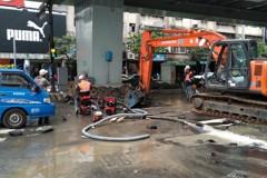 板橋自來水破管搶救中 約2萬戶沒水可用