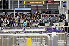 因應防疫 香港返深圳人潮湧現
