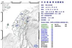 規模4.9地震影響 崇德往花蓮、鳳林慢行影響3列次