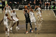 NBA/東區冠軍前哨戰 KD致命三分球率籃網險勝公鹿