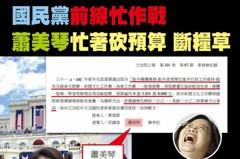 提案刪蕭美琴業務費挨轟 藍委反控民進黨「雙標政府」