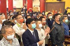 陳其邁大年初九祈福 從三民玉皇宮起連拜4座天公廟