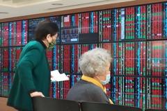 台股收跌123點 三大法人賣超180.49億
