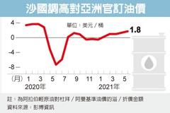 看好亞洲經濟復甦前景 沙國調漲下月亞洲原油售價
