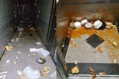 女子花2.5萬元叫外送統統「餵公寓」 走廊電梯滿布垃圾+湯汁
