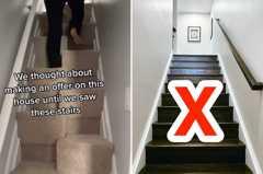 看房驚見「詭異方格」樓梯 他放棄買房網曝真實用途