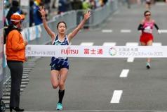 東奧馬拉松測試賽 日本女選手一山麻緒半馬奪冠