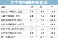 大中華基金 長線夠力