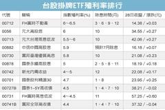 高配息ETF三強 配發率衝6%