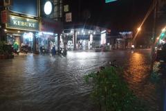 全台前十大降雨9處在台南 新營5座跨急水溪過水橋急封閉