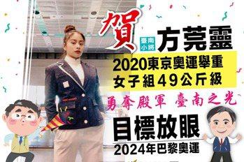 台南舉重精靈方莞靈拿第4 放眼2024巴黎奧運