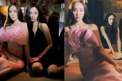 這畫面太美!韓國最美姐妹花Jessica、Krystal聯手性感登封,「黑X粉」造型成姐妹裝穿搭範本