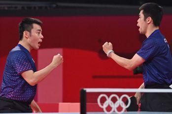 桌球/男團跨越3世代 中華隊直落三擒克國晉8強