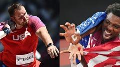美國動漫隊!鉛球選手大擺佛朗基招牌動作SUPER 短跑銅牌使出龜派氣功波
